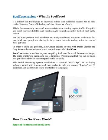 SociCore review - (FREE) Jaw-drop bonuses