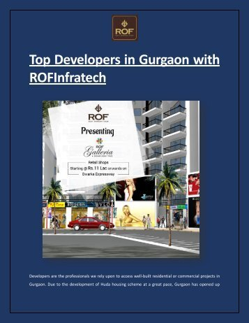 Top developers in Gurgaon - ROFInfratech
