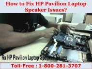 How to Fix HP Pavilion Laptop Speaker Issues? 8002813707
