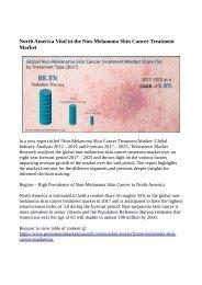 Non Melanoma Skin Cancer Market To Reach US$ 705 Million By 2025
