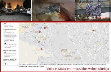 Mapa La Rioja Tijuana - Colinas de California - Coto Bahía - Delegación Sánchez Taboada Tijuana - Delitos de Alto Impacto, Narco Mantas y Muerte en Tijuana - Mapa
