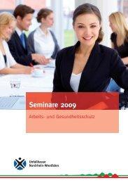 Seminare 2009 - Unfallkasse NRW