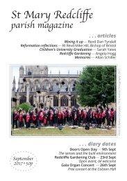 St Mary Redcliffe Church Parish Magazine - September 2017