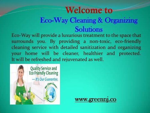 Green Cleaning Service in New Jersey