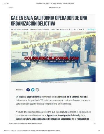 Cae Otro Vecino Mafioso en La Rioja Residencial Tijuana, Era de los Pesados del Cartel de Sinaloa, Lo Agarraron en el Mismo Edificio Que a la Vecina Secuestrada