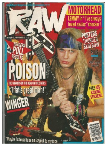 RAW,  No 62,  Jan 9-22, 1991
