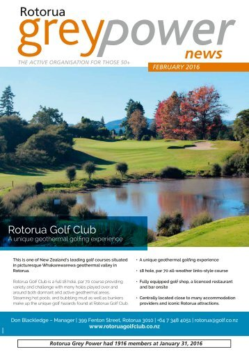 Rotorua Grey Power February 2016