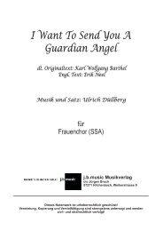 I Want To Send You A Guardian Angel (für Frauenchor SSA)