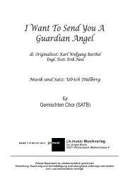 I Want To Send You A Guardian Angel (für Gemischten Chor SATB)