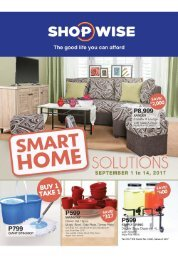 SHOPWISE HOME SOLUTIONS ends September 14, 2017