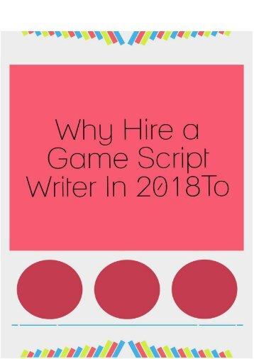 Hire a script writer