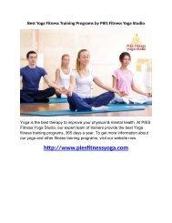Best Yoga Fitness Training Programs by PIES Fitness Yoga Studio