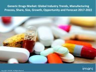 Generic Drugs Market Trends, Share, Size and Forecast 2017-2022