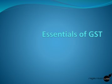 Essentials of GST