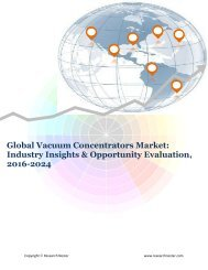 Global Vacuum Concentrator Market (2016-2024)- Research Nester