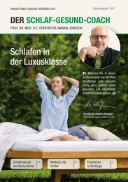 DER SCHLAF-GESUND-COACH | Mercedes Ausgabe 2017