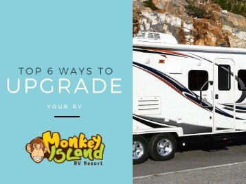 Top 6 Ways To Upgrade Your RV