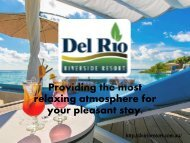 Del Rio Riverside Resorts - Accommodation Richmond NSW