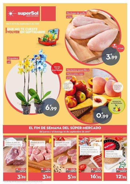 Folleto superSol supermercados del 6 al 12 de Septiembre 2017