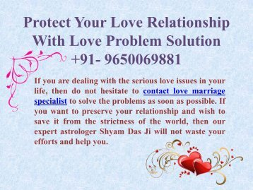 Protect Your Love Relationship With Love Problem Solution 9650069881