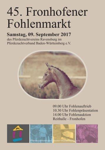 45. Fronhofener Fohlenmarkt - Samstag 9. September