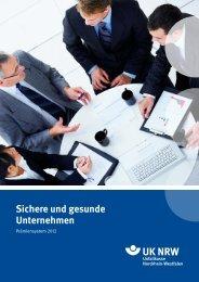 Sichere und gesunde Unternehmen - Unfallkasse NRW