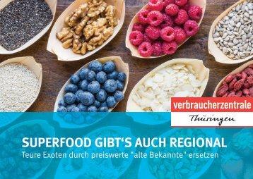 Superfood gibt's auch regional