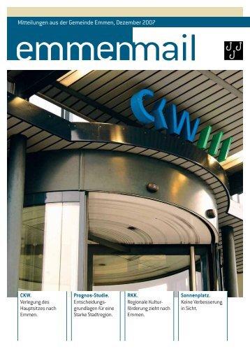 Emmenmail Dezember 2007(pdf) - Gemeinde Emmen