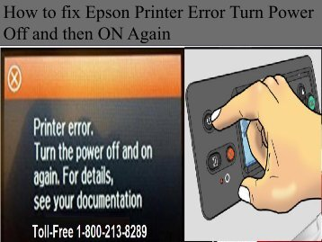 How to fix Epson Printer Error Turn Power.