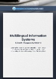 Multilingual Information Systems Presentation Paper Example