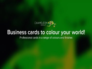 Business cards to colour your world!