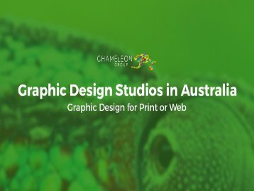 Graphic Design Studios in Australia