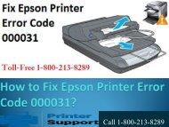 How to Fix Epson Printer Error Code 000031