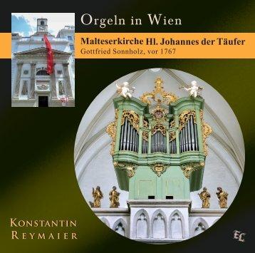 CD Booklet Orgeln in Wien - Malteserkirche Hl. Johannes der Täufer