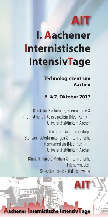 1. Aachener internistische Intensivtage 2017 AIT