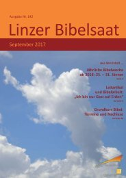 Linzer Bibelsaat (Nr. 142, September 2017)