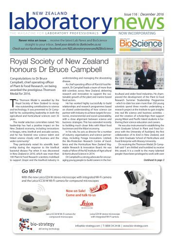 Laboratory News & BioScience December 2016