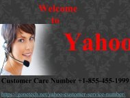 Yahoo Customer Service Toll-free Number  +1-855-455-1999