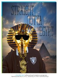 straight out of egypt
