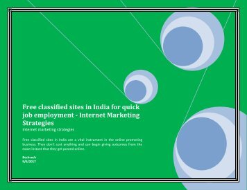 Free classified sites in India for quick job employment - Internet Marketing Strategies