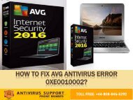 Fix AVG Antivirus Error 0xe0010002  Dial +44-800-046-5292