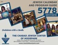 Calendar & Program guide 2017-2018