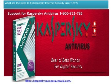Kaspersky Technical Support Number Australia 1-800-921-785