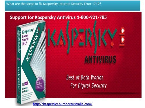 Kaspersky Technical Support Number Australia 1-800-921-785