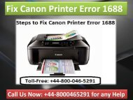 Call 448000465291 Troubleshoot Canon Printer Error 1688