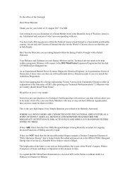 Bill Harding letter to Taoiseach