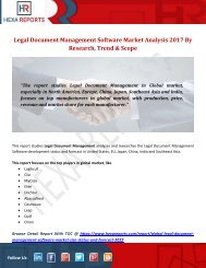 Legal Document Management Software Market Analysis 2017 By Research, Trend & Scope
