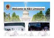 Welcome to K&V Limousine