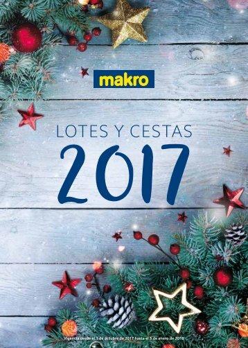 Folleto makro lotes y cestas de navidad 2017