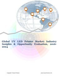 Global UV LED Printer Market (2016-2024)- Research Nester
